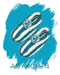 knitted striped slippers