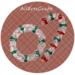 Beaded Cane and Wreath Decorations