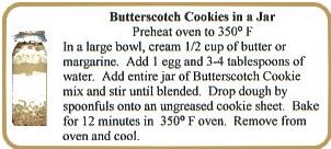 Butterscotch Cookie Label