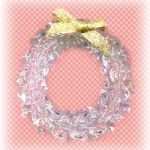 Beaded Crystal Wreath Tree Trim