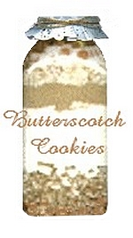 butterscotch cookies in a jar