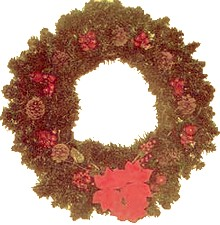 pine cone and berry wreath