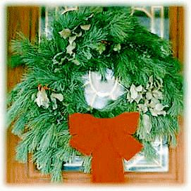 DIY fresh pine wreath