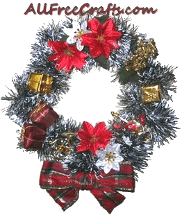 recycled shrimp ring wreath