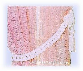 crocheted tiebacks