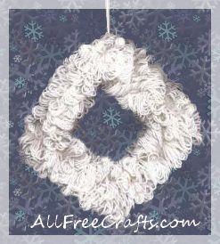 coat hanger yarn wreath