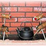 birch branch reindeer