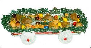 Egg carton candy wagon