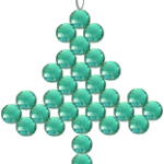 beaded Christmas tree pattern