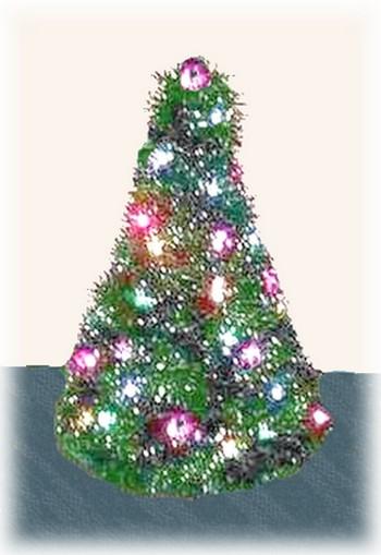 coat hanger tree with lights