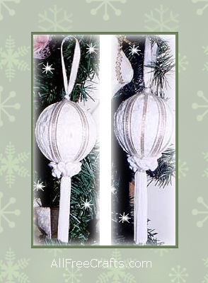doily tassel ornaments