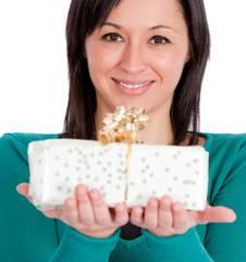 polka dotted gift