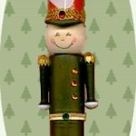 recycled toy soldier ornament