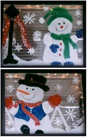 painted christmas windows