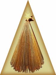 paperback book Christmas tree