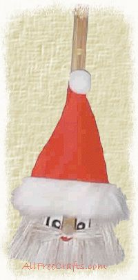 santa broom ornament