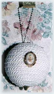 Satin and Pearl Christmas Tree Ornament