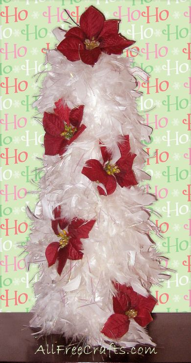 Homemade Feather Boa Christmas Tree