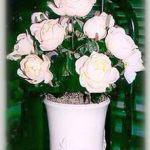 Pot of Silk Roses