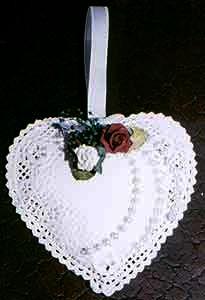 heart doily sachet