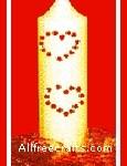 Rhinestone Candle