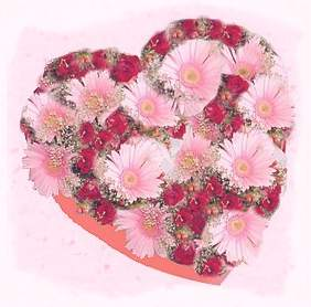 heart shape floral display