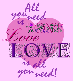 all you need is love graphic