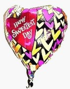 happy sweetest day balloon