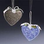 faux tin hearts