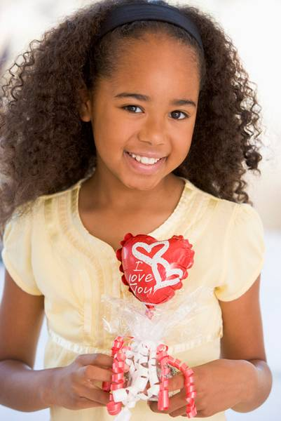 Girl Holding a Valentine Heart
