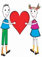 valentine cartoon kids