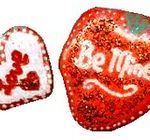 painted stones with heart motif