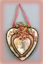 papered vintage hearts