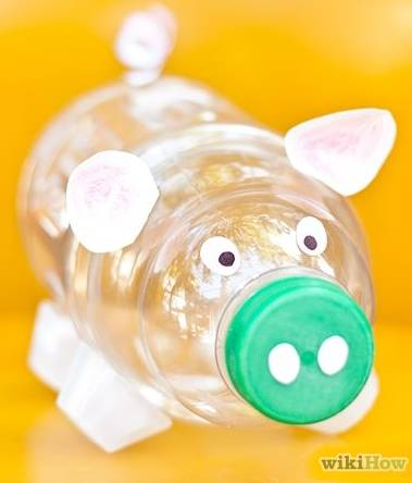Plastic bottle piggy bank all free crafts for Plastic bottle piggy bank craft