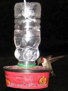 Recycled homemade hummingbird feeder forumfinder Choice Image