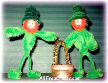 chenille leprechauns