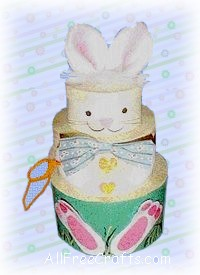 round box Easter bunny