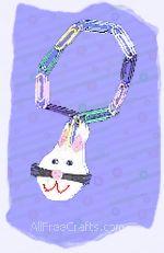 paper clips bunny bracelet
