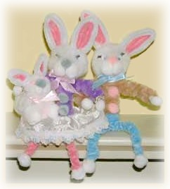 chenille stem bunny family