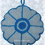 crocheted daisy potholder