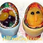 decoupaged easter surprise eggs