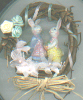 miniature Easter wreath