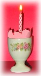eggshell birthday candle