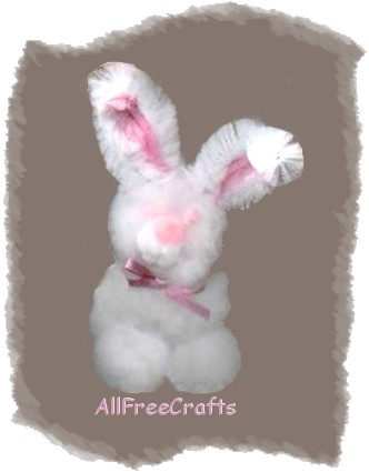 fluffy pompom bunny