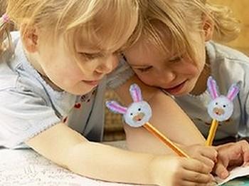 Easter bunny pencils