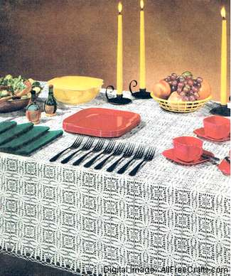 san fernando crochet tablecloth