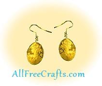 decoupaged cameo earrings