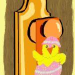 Easter Chick Door Hanger