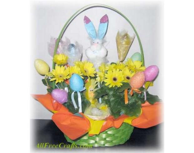 easter daisy basket