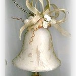 decoupaged bell ornament